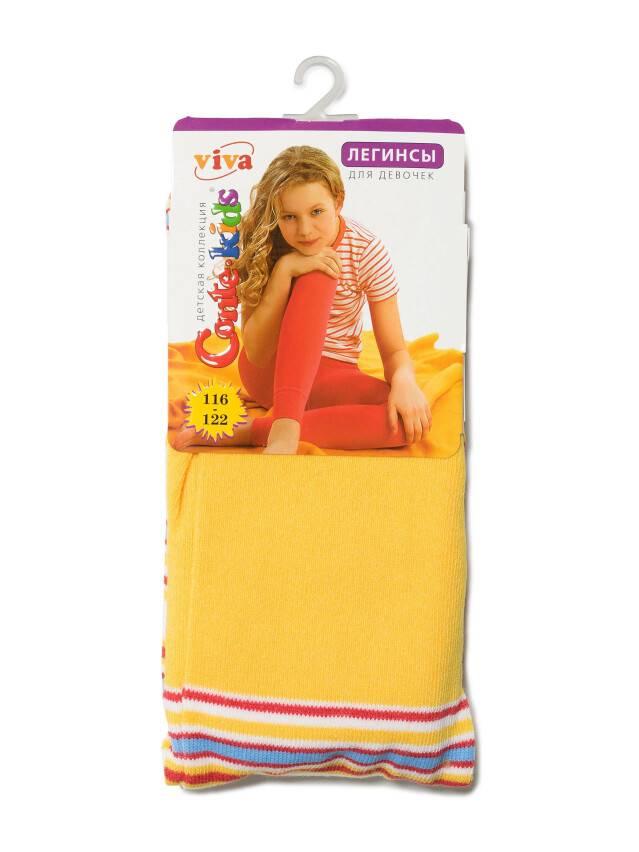 Legginsy dla dziewczynek VIVA, r. 116-122, 006 żółty - 2