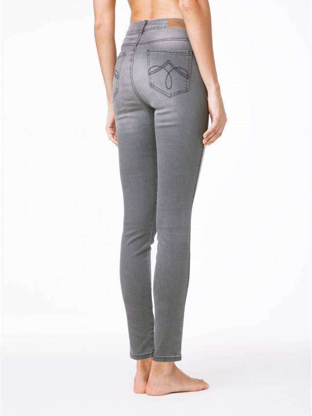 Spodnie denim CONTE ELEGANT CON-49, r.170-90, szary - 2