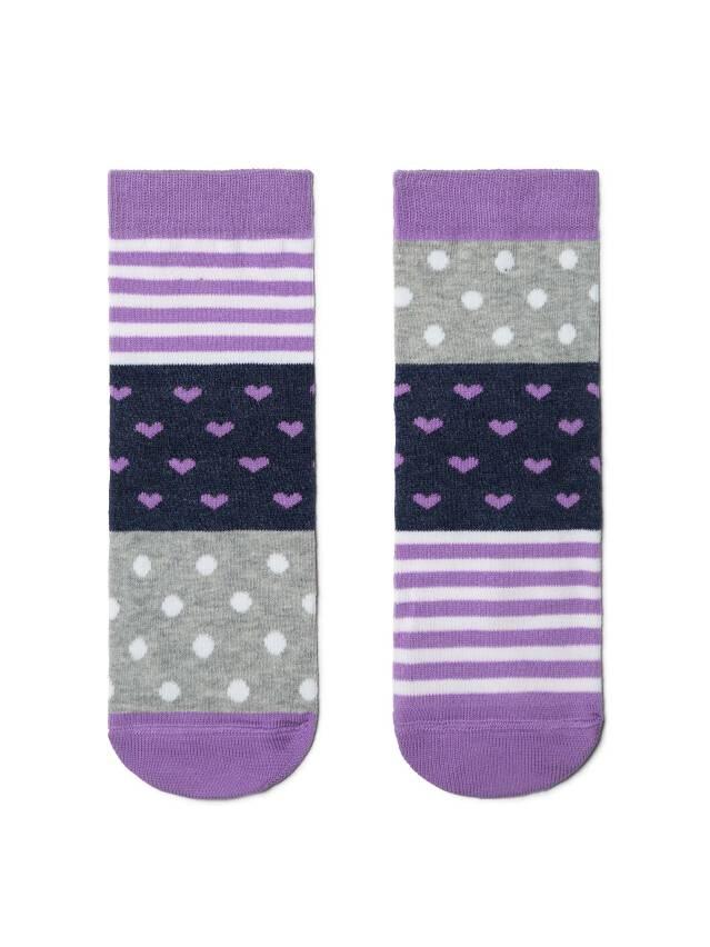 Skarpetki dziecięce CONTE-KIDS CHEERFUL LEGS, r.16, 282 grey-lilac - 1
