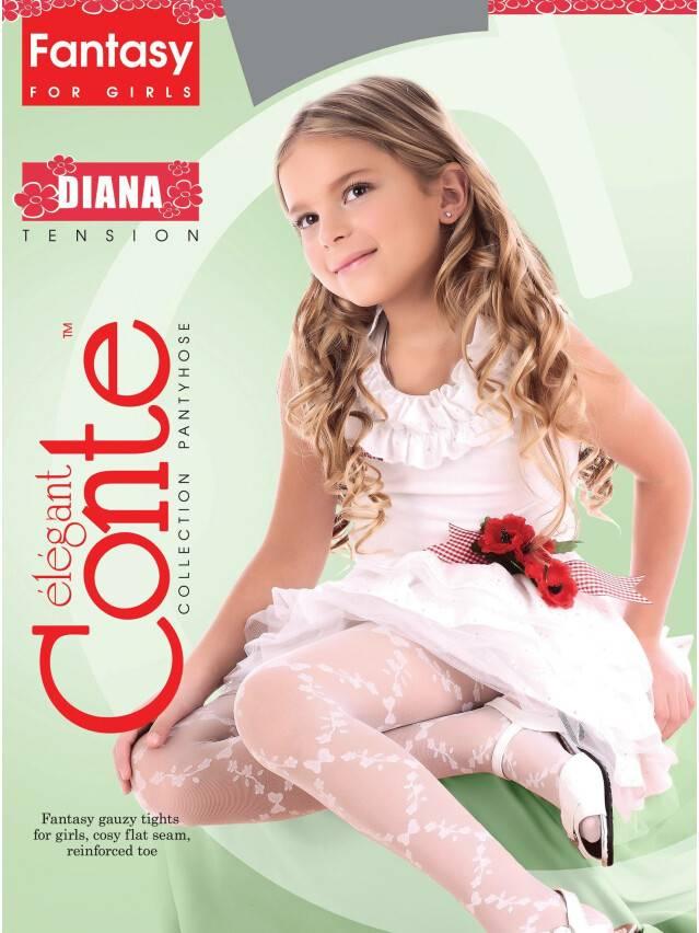 Rajstopy eleganckie dla dzieci DIANA, r. 104-110, pink - 2