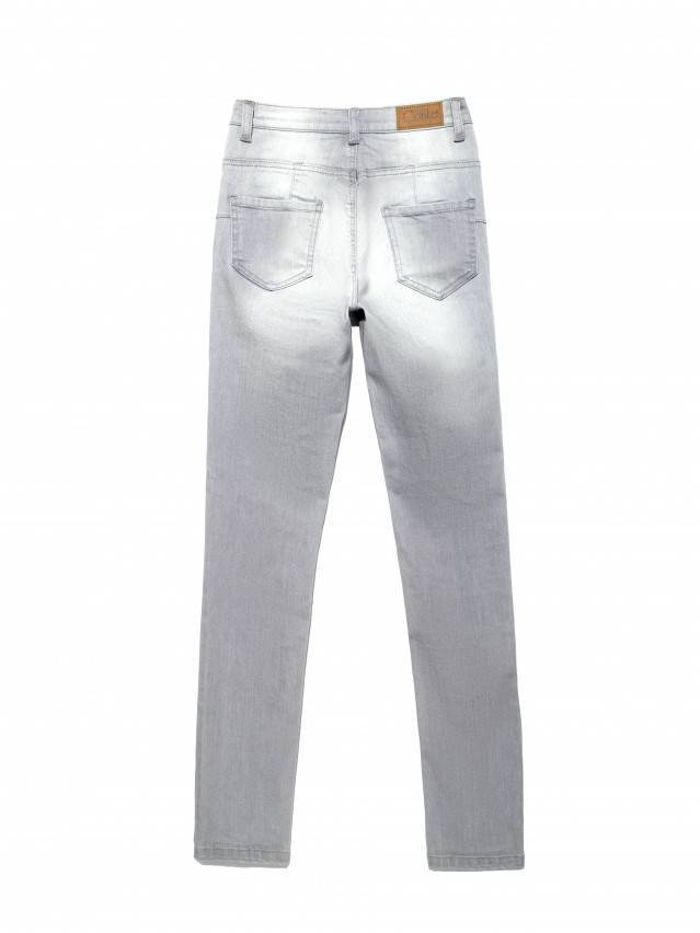 Spodnie denim CONTE ELEGANT CON-127, r.170-102, jasnoszare - 4