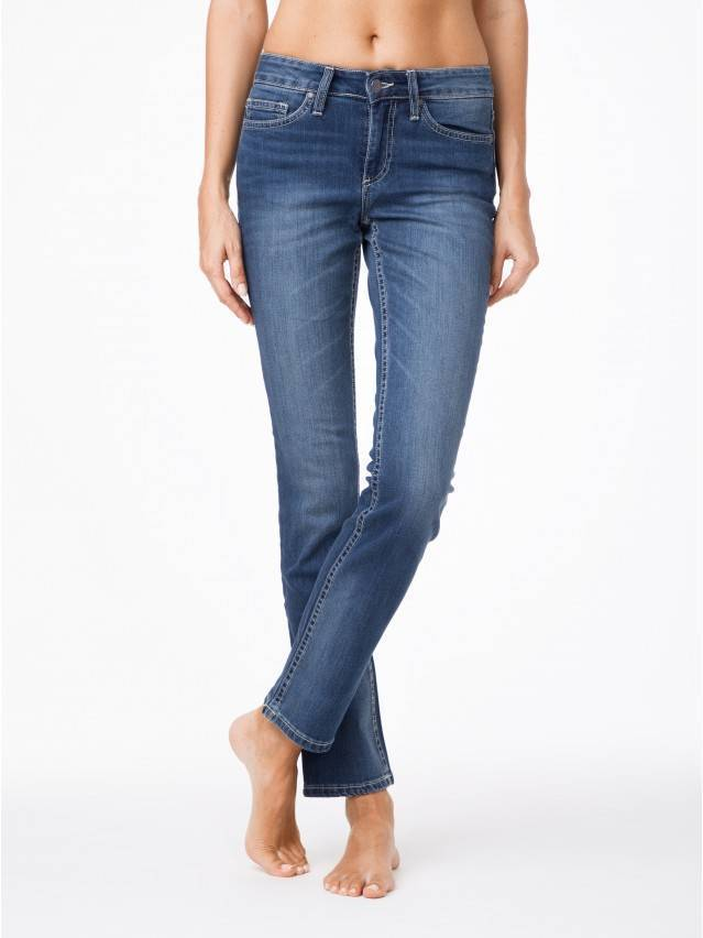 Jeansy klasyczne proste o średnim kroju 2091/49123 1