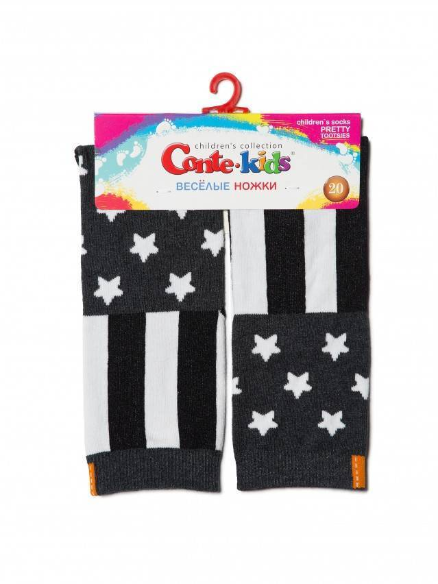 Skarpetki dziecięce CONTE-KIDS CHEERFUL LEGS, r.20, 280 ciemnoszary - 2