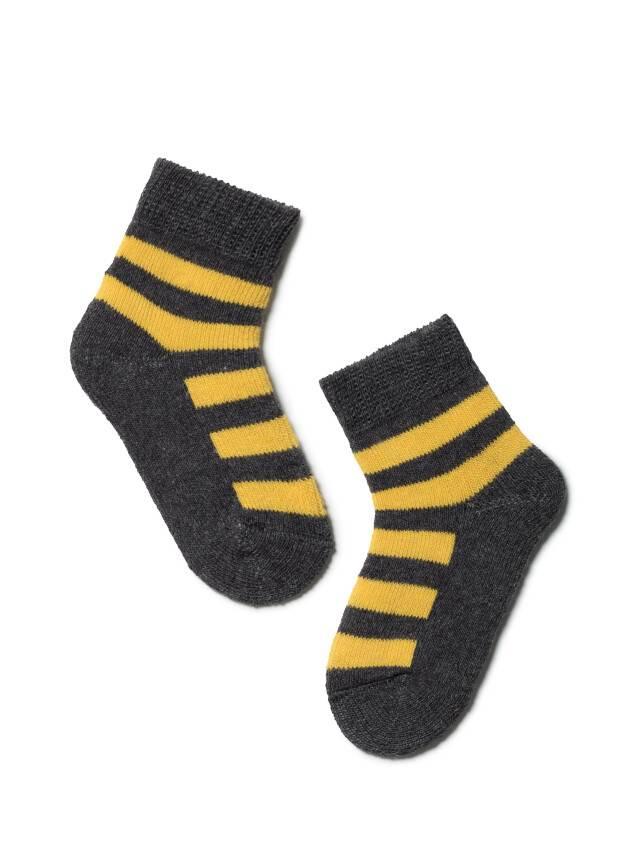 Skarpety dziecięce SOF-TIKI 7С-46СП, r. 10, 210 ciemnoszary-żółty - 1