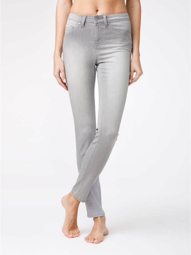 Spodnie denim CONTE ELEGANT CON-127, r.170-102, jasnoszare - 2