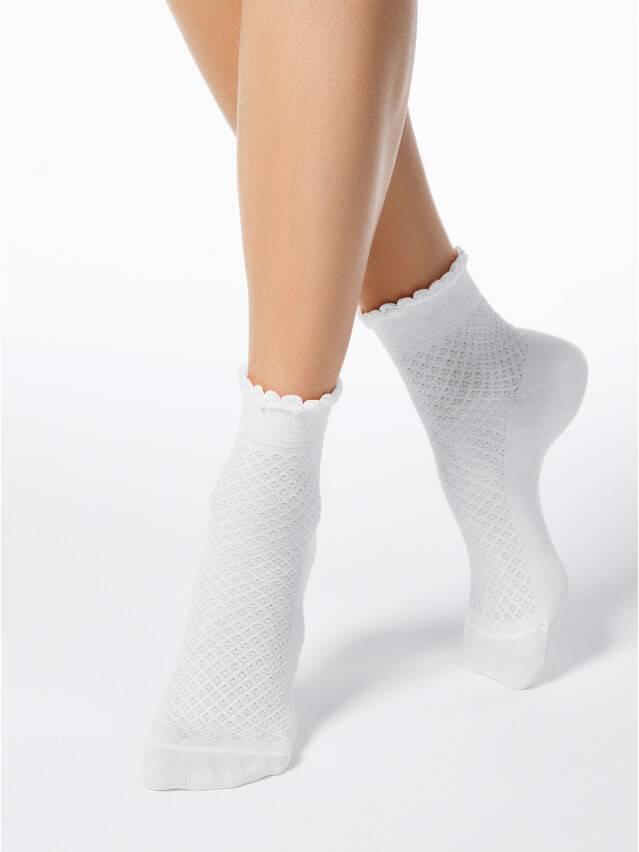 Skarpety damskie CLASSIC, bawełna (cienkie, z pikotem) 15С-22СП, r. 23, 055 biały - 1