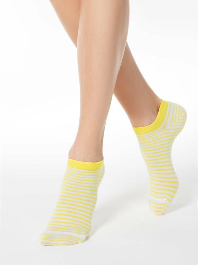 Skarpety damskie ACTIVE, bawełna (ultra krótkie) 15С-46СП, r. 25, 073 biały-żółty - 1