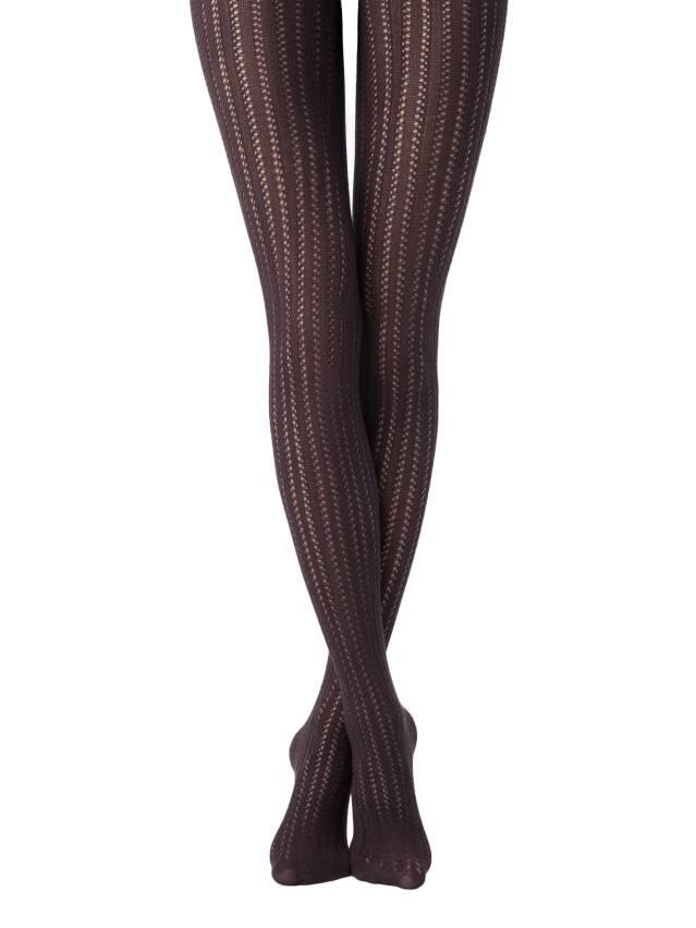 Rajstopy damskie bawełniane FASHION, r.2, chocolate - 1