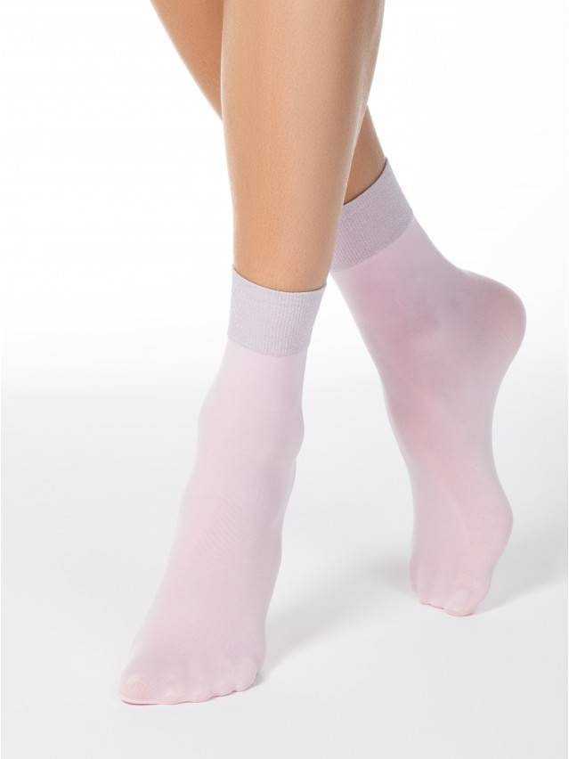 Skarpety poliamidowe damskie FANTASY (lurex) 16С-128СП, r. 23-25, light pink - 1