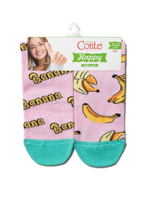 Носки женские хлопковые HAPPY 18С-227СП, р. 36-39, 166 светло-розовый - 3