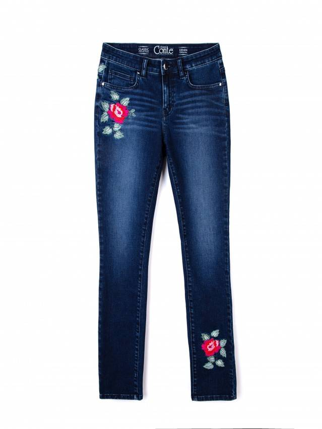 Spodnie denim CONTE ELEGANT CON-53, r.170-94, ciemnoniebieski - 4