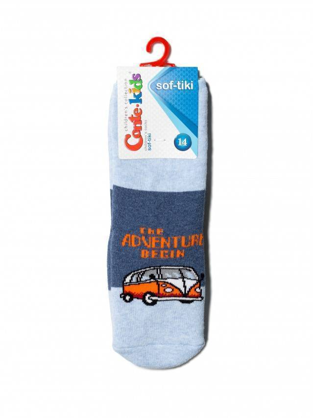 Носки детские SOF-TIKI (антискользящие, с отворотом) 7С-62СП, р.12, 473 джинс - 2