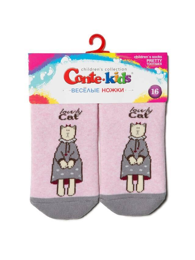 Skarpety dziecięce CONTE-KIDS Wesołe nóżki, r.18, 292 jasnoróżowy - 5