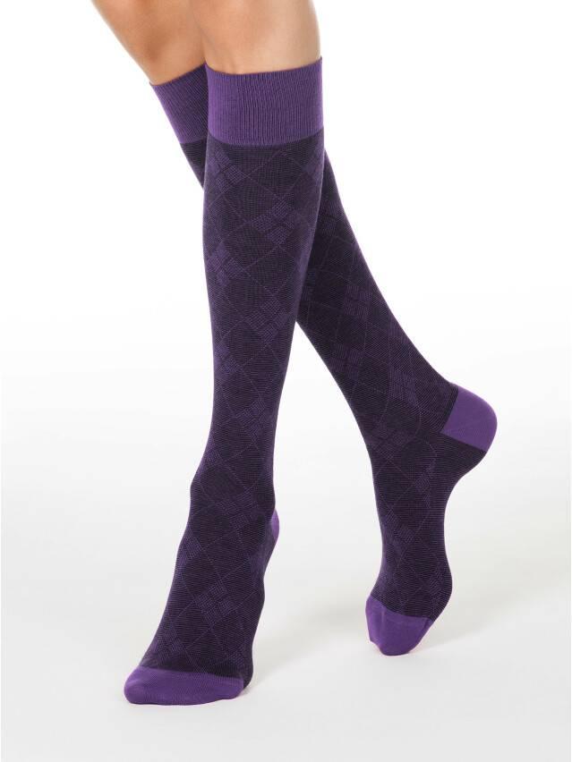 Podkolanówki damskie bawełniane CLASSIC, r. 25, 003 fioletowy - 1