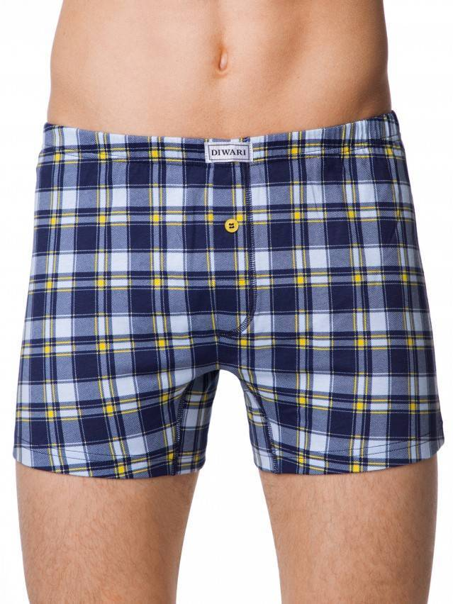 Majtki męskie SHAPE BOXER 104, r.78,82, royal blue-yellow - 1