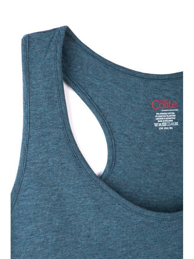 Koszulka damska BASIC LM 646, r.158,164-88, granatowy melanż - 5