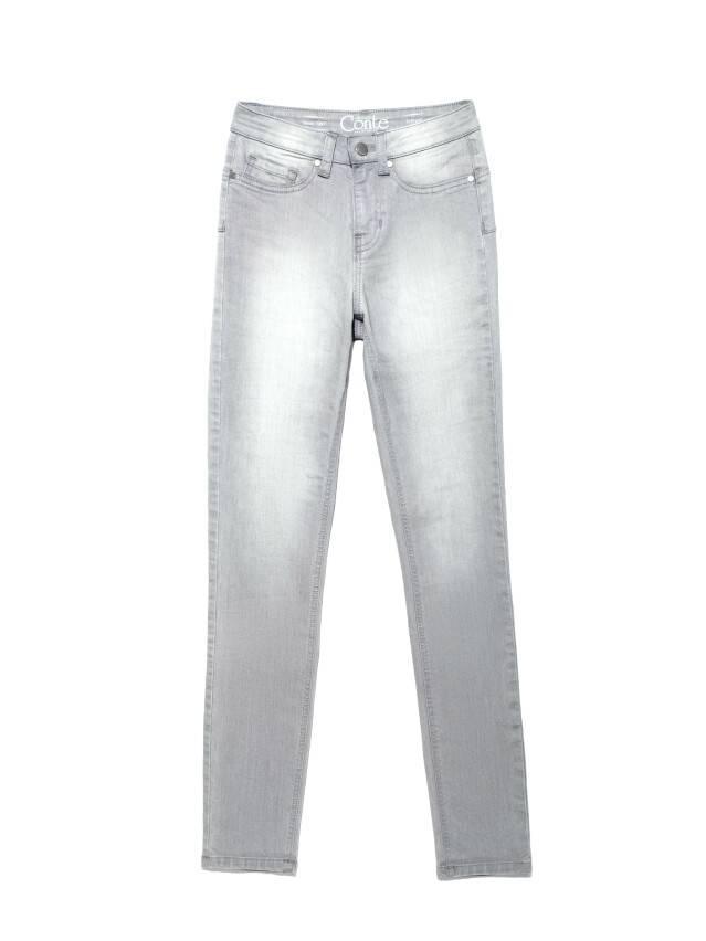 Spodnie denim CONTE ELEGANT CON-127, r.170-102, jasnoszare - 3