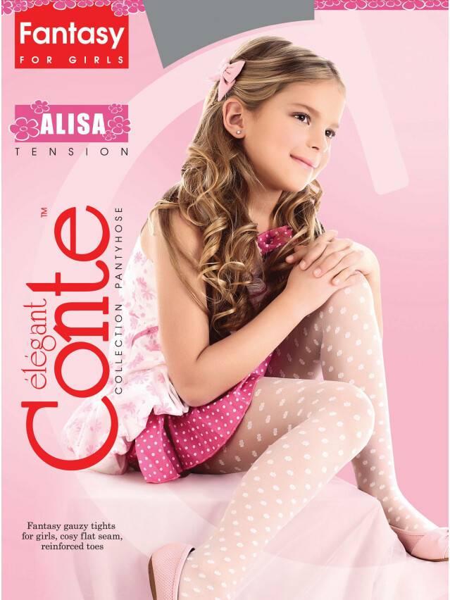 Rajstopy eleganckie dla dzieci ALISA, r. 104-110, bianco - 1