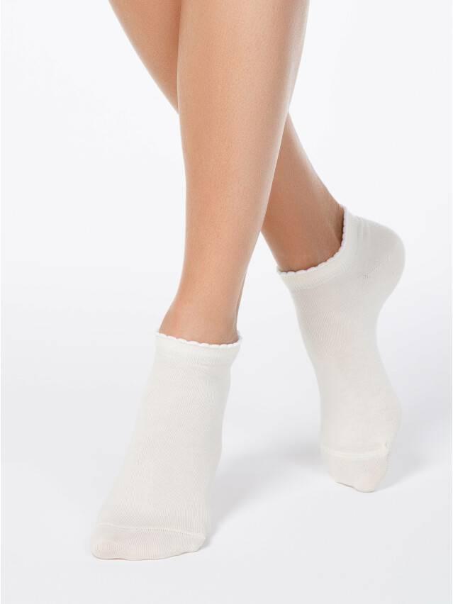 Skarpety damskie bawełniane ACTIVE (krótkie, z pikotem) 12С-45СП, r. 23, 041 cappuccino - 1
