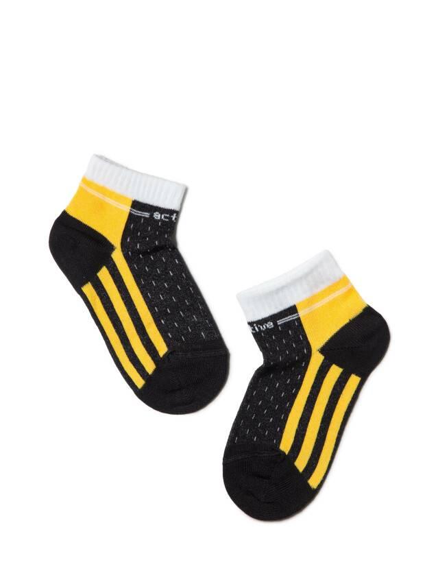 Skarpety dziecięce CONTE KIDS ACTIVE, r.14, 308 czarno-żółty - 1