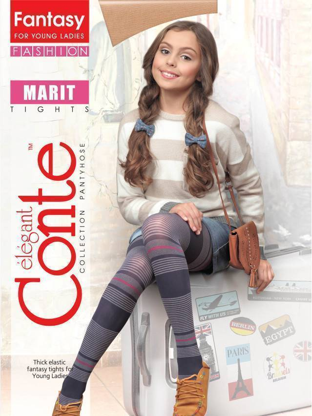 Rajstopy dla dzieci poliamid MARIT, r. 140-146, marino - 1