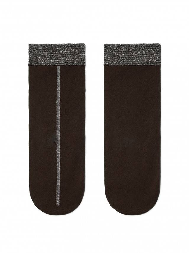 Skarpety poliamidowe damskie FANTASY (lurex) 16С-125СП, r. 23-25, grafit - 3