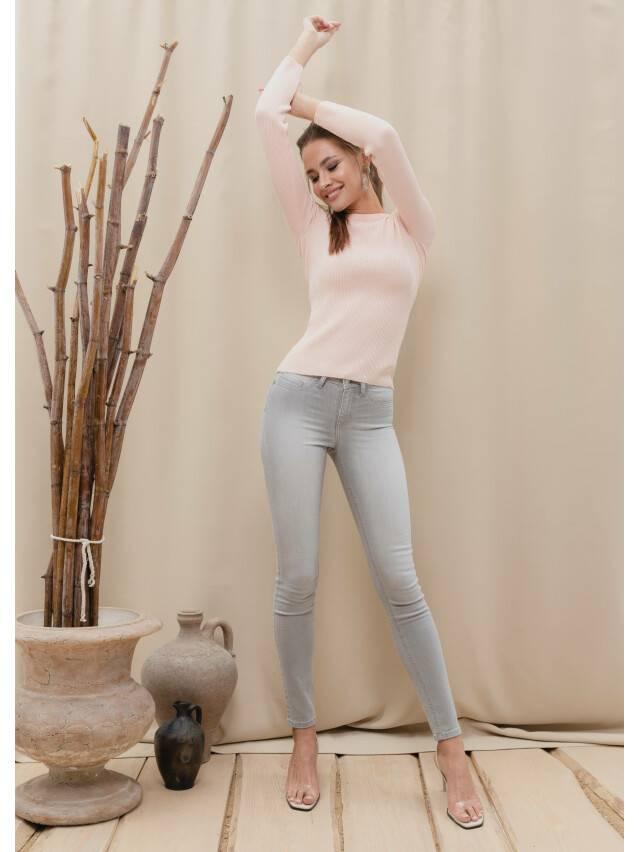 Spodnie denim CONTE ELEGANT CON-127, r.170-102, jasnoszare - 1