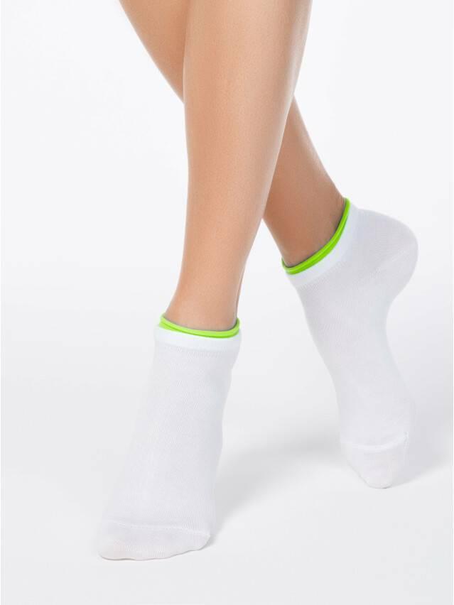 Skarpety damskie bawełniane ACTIVE (dekoracyjna gumka) 12С-32СП, r. 25, 035 biały-seledynowy - 1