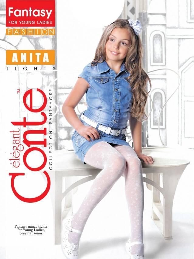 Rajstopy dla dzieci poliamid ANITA, r.146-152, marino - 1
