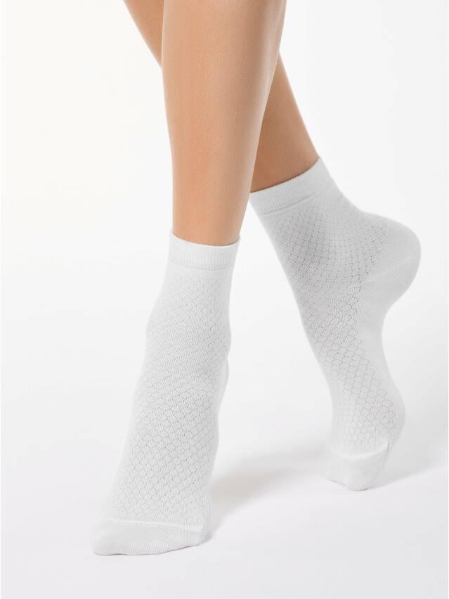 Skarpety damskie CLASSIC, bawełna 15С-15СП, r. 23, 061 biały - 1