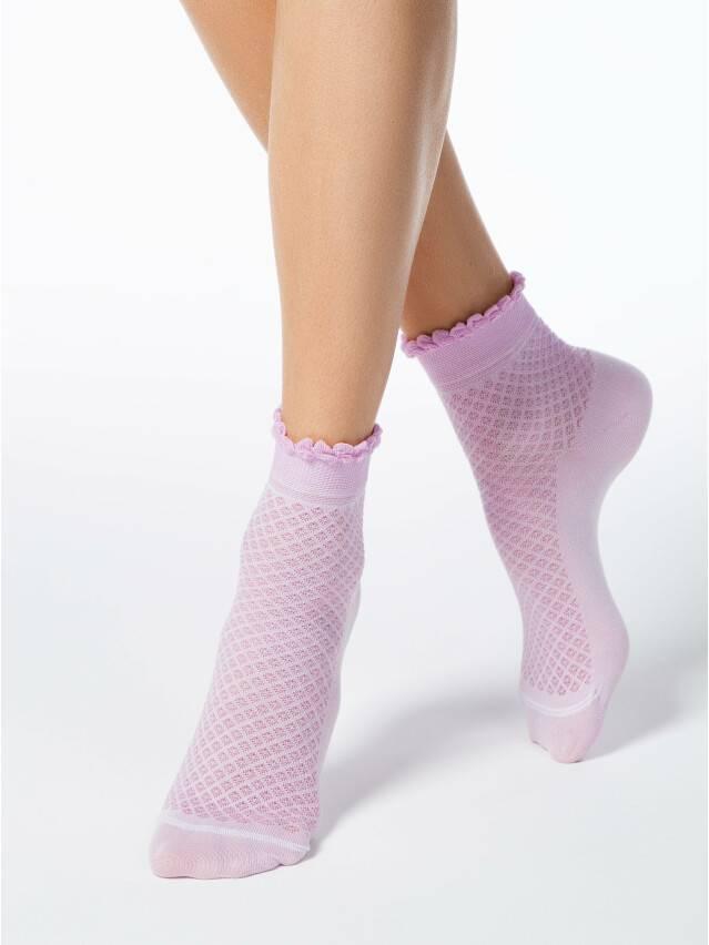 Skarpety damskie CLASSIC, bawełna (cienkie, z pikotem) 15С-22СП, r. 23, 055 bzowy - 1