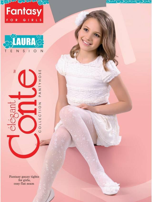 Rajstopy eleganckie dla dzieci LAURA, r. 104-110, pink - 1