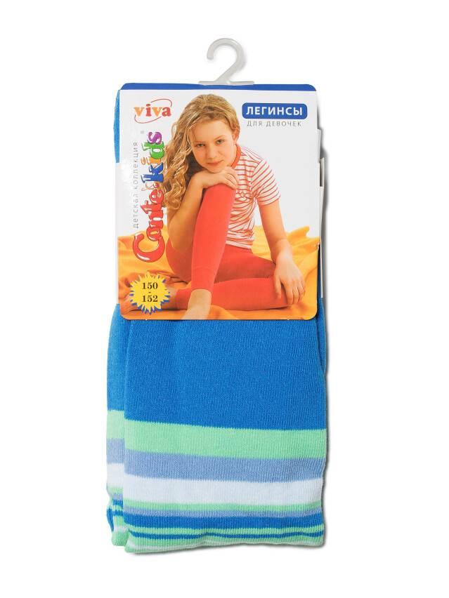 Legginsy dla dziewczynek VIVA, r. 150-152, 005 niebieski - 1