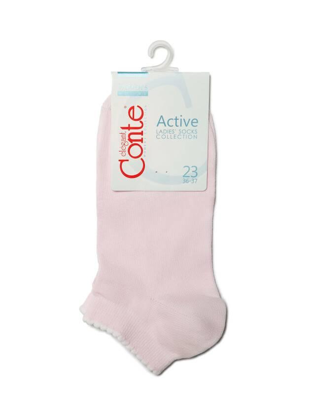 Skarpety damskie bawełniane ACTIVE(krótkie, z pikotem) 12С-45СП, r. 23, 041 jasnoróżowy - 3