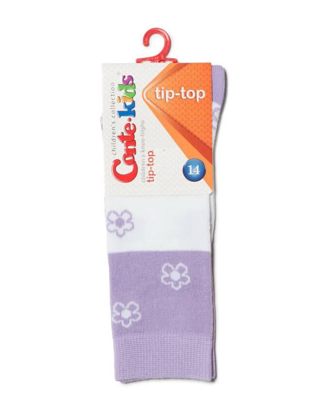Podkolanówki dla dzieci TIP-TOP, r. 14, 041 biały-bzowy - 2