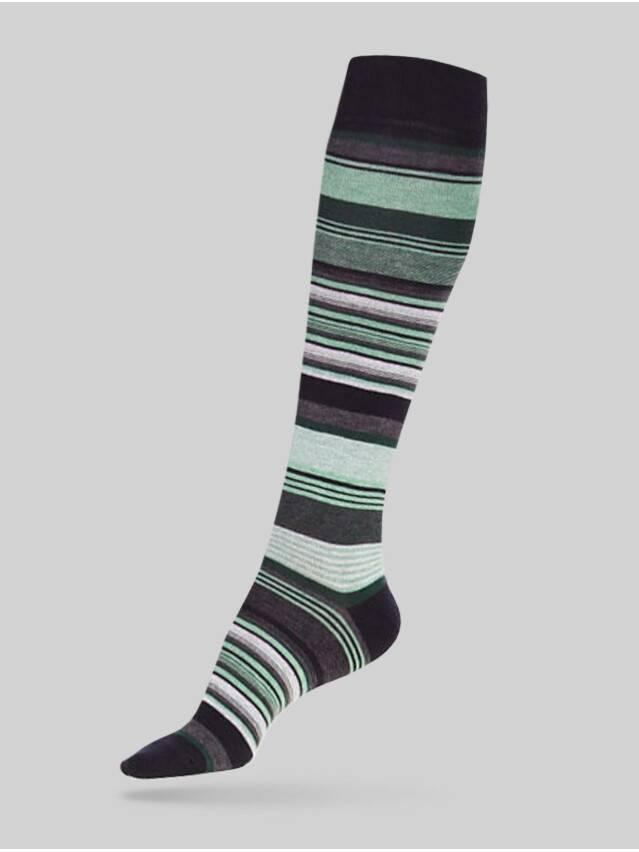 Podkolanówki damskie bawełniane COMFORT(мelanż),r. 23, 001 jasnoseledynowy - 1