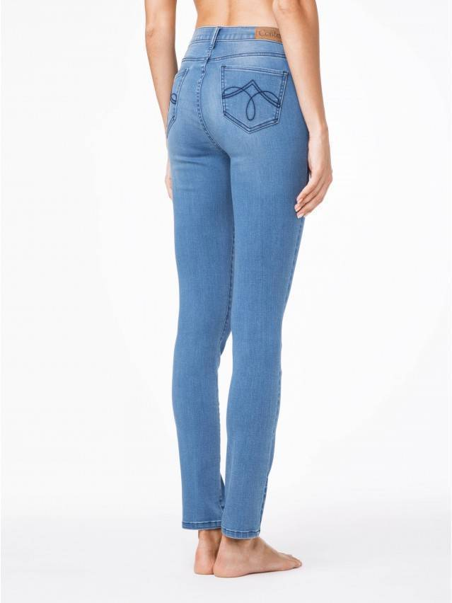 Spodnie denim CONTE ELEGANT CON-47, r.164-90, ciemnoniebieski - 2