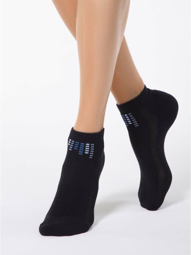 Skarpety damskie bawełniane ACTIVE (krótkie, stopa frotte) 7С-41СП, r. 23, 017 czarny - 1