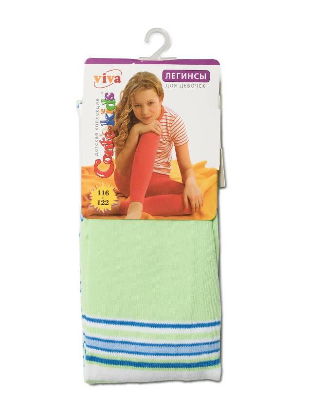 Legginsy dla dziewczynek VIVA, r. 116-122, 006 jasnoseledynowy - 2