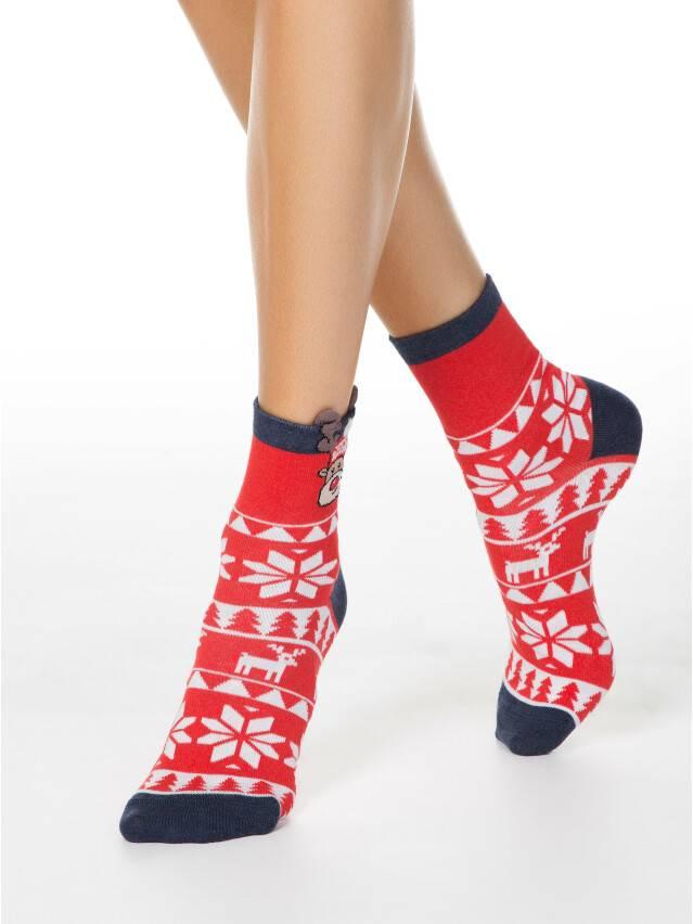 Skarpetki świąteczne damskie r.23-25, 445 czerwony - 1