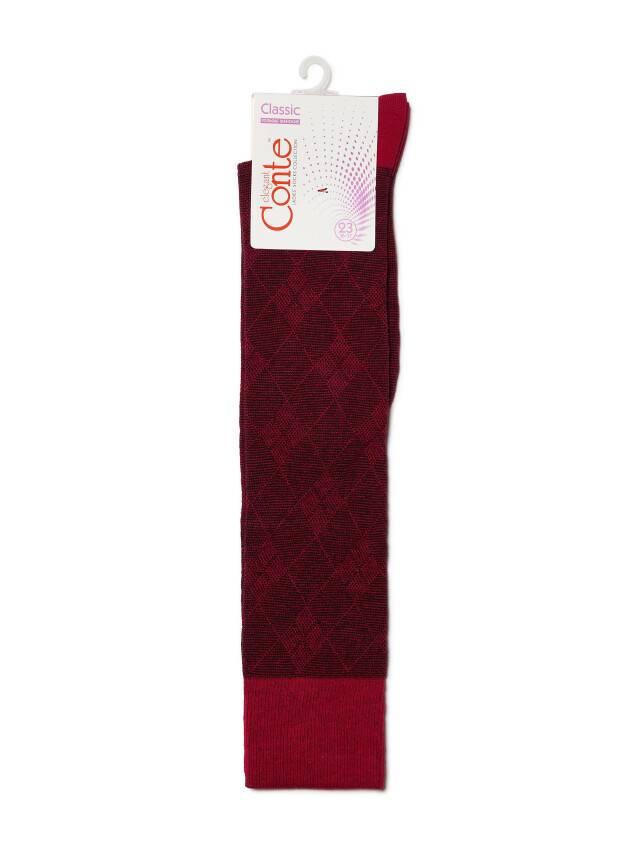Podkolanówki damskie bawełniane CLASSIC, r. 23, 003 bordowy - 3