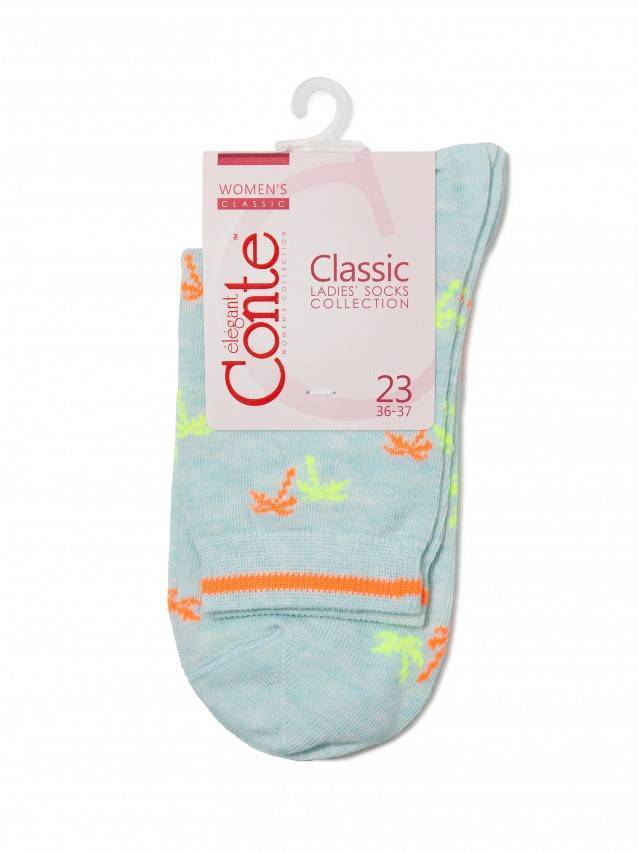 Skarpety damskie bawełniane CLASSIC 15С-15СП, r.23, 089 jasnoturkusowy - 3