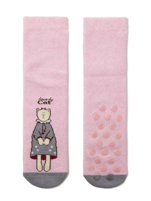 Skarpety damskie bawełniane HAPPY (frotte, antypoślizgowe),r.36-37, 292 jasnoróżowy - 2