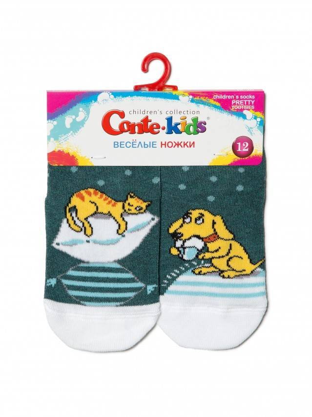 Skarpety dziecięce CONTE-KIDS CHEERFUL LEGS, r.12, 334 ciemnoturkusowy - 2