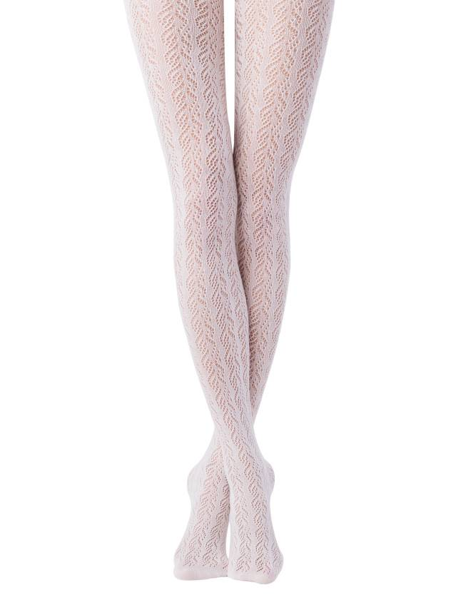 Rajstopy damskie bawełniane EFFECT, r. 2, bianco - 1
