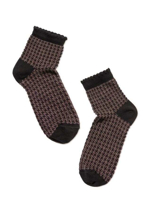 Skarpety damskie CLASSIC, bawełna (z pikotem) 14С-93СП, r. 23, 056 czarny-кawowy - 2