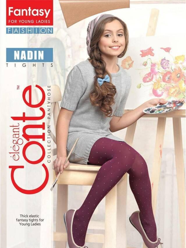 Rajstopy dla dzieci poliamid NADIN, r. 140-146, marino - 3