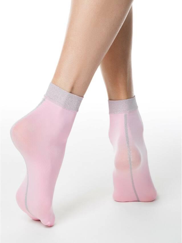 Skarpetki damskie poliamidowe FANTASY (lurex) 16С-125СП, r. 36-39, light pink - 2