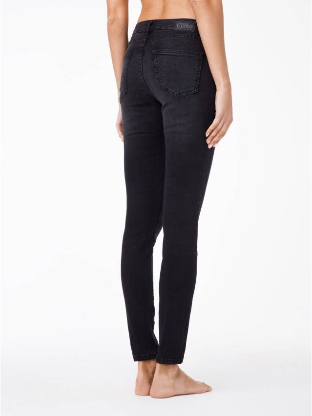 Spodnie jeansowe damskie CONTE ELEGANT 2992/4939, r.170-102, czarny - 3