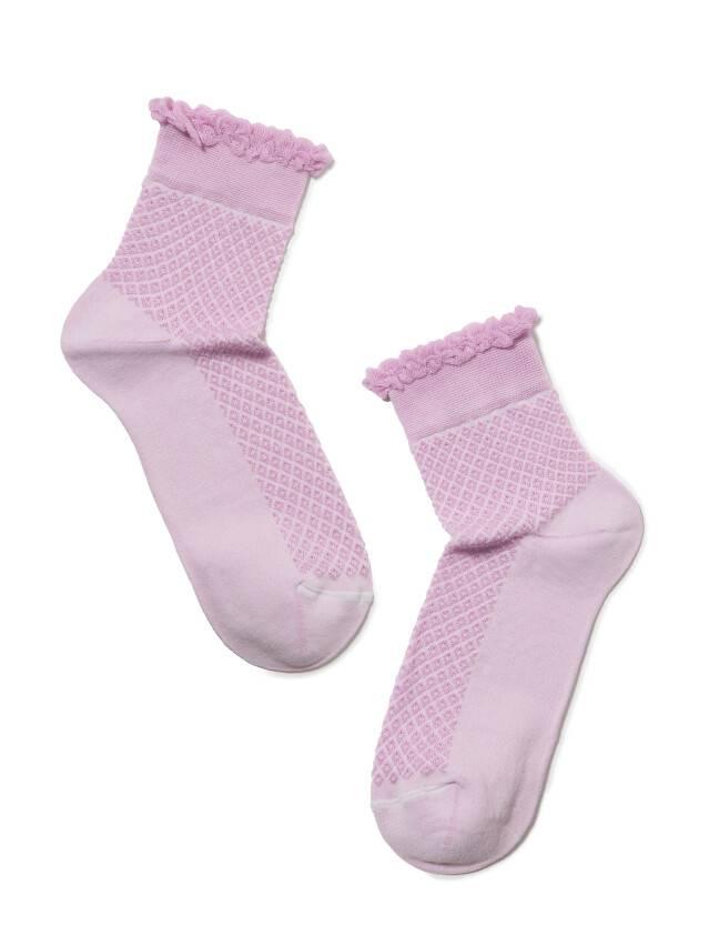 Skarpety damskie CLASSIC, bawełna (cienkie, z pikotem) 15С-22СП, r. 23, 055 bzowy - 2